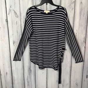 Michael Kors NWT Small Top Striped Navy White